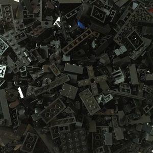 Big Bag of Black LEGO